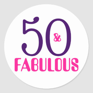 50 And Fabulous | 50th Birthday Sticker