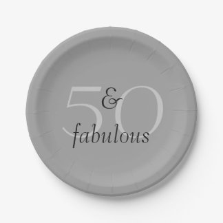 50 and Fabulous 7 Inch Paper Plate