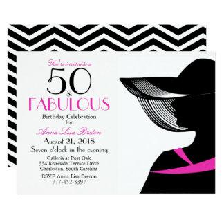 50 and Fabulous Art Deco Elegant 50th Birthday Card