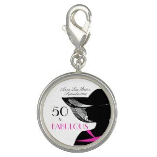 50 and Fabulous Art Deco Elegant 50th Birthday Charms