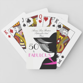 50 and Fabulous Art Deco Elegant 50th Birthday Playing Cards