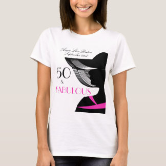 50 and Fabulous Art Deco Elegant 50th Birthday T-Shirt