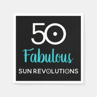 50 and Fabulous Astrology Birthday Paper Napkins
