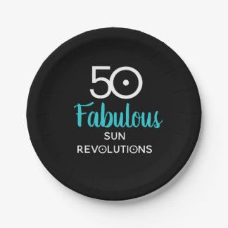 50 and Fabulous Birthday Astrology Plates