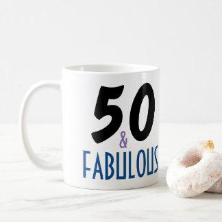 50 and Fabulous Birthday Gift Coffee Mug