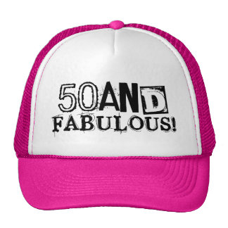 50 and fabulous Birthday hat | Vintage style