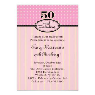 50 and Fabulous Birthday Invitation