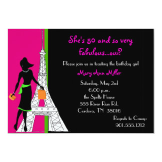 50 and Fabulous Birthday Invitations