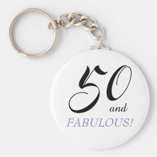 50 and Fabulous Birthday Keychain