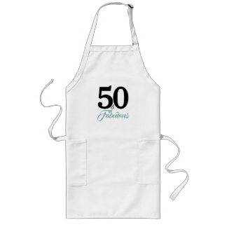 50 and Fabulous Birthday Long Apron