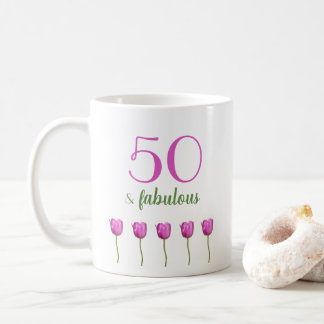 50 and Fabulous Birthday Mug | Magenta Tulip