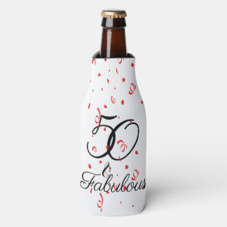 50 and Fabulous Birthday Party Bottle Cooler