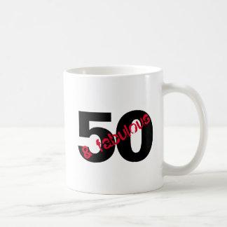 50 and Fabulous Birthday Party drink Coffee Mug