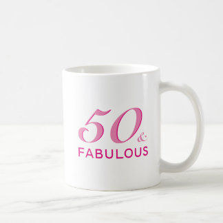50 and Fabulous Birthday Party Gift Coffee Mug
