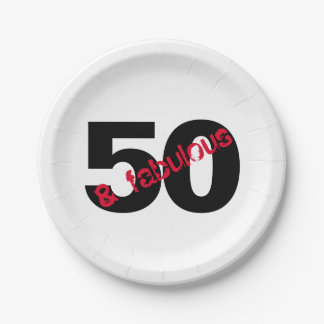 50 and Fabulous Birthday Party Party Supplies Paper Plate