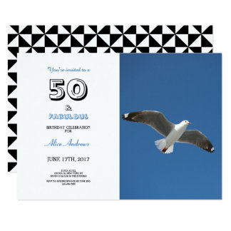 50 and Fabulous Birthday Photo Invitation