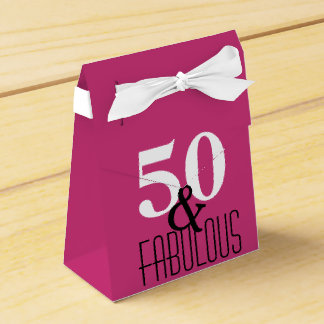 50 and Fabulous Bold Type Birthday Party Favor Box