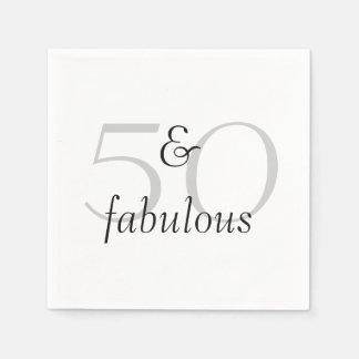 50 and Fabulous Disposable Napkins