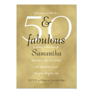 50 and Fabulous Glam Gold Card