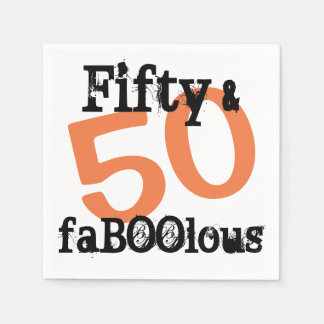 50 and Fabulous Halloween - Fifty and FaBOOlous Paper Napkins