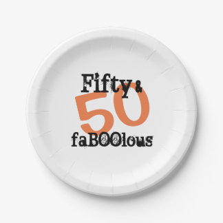 50 and Fabulous Halloween - Fifty and FaBOOlous Paper Plate