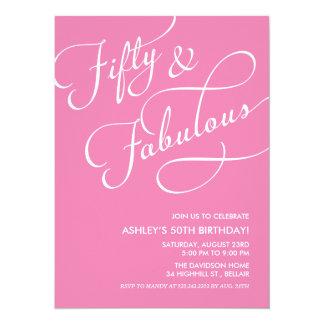 50 and Fabulous Invitations