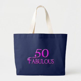 50 and FABULOUS Large Tote Bag