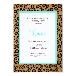 50 And Fabulous Leopard Birthday Invitation