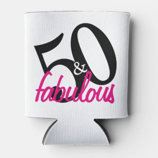 50 And Fabulous Personilized Can Coolers