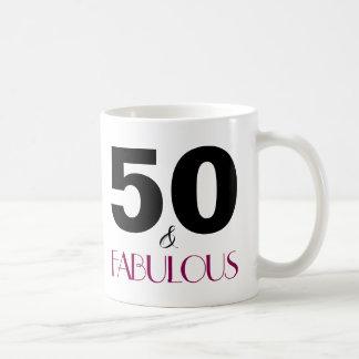 50 and Fabulous Pink 50th Birthday Gift Mug