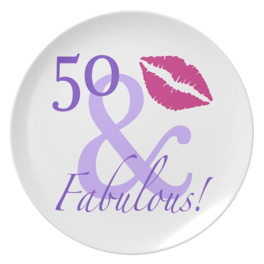 50 And Fabulous Plate