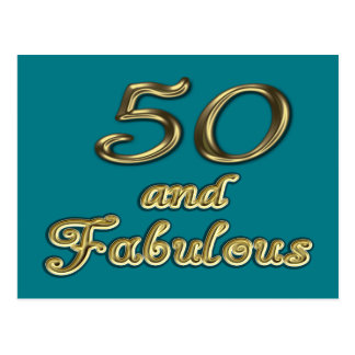 50 and Fabulous Postcard