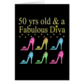 50 AND FABULOUS SHOE LOVER DESIGN CARD
