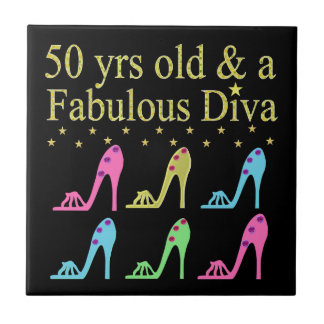 50 AND FABULOUS SHOE LOVER DESIGN TILE