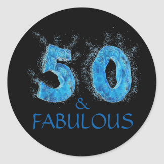50 and Fabulous / Sports 50th Birthday Classic Round Sticker