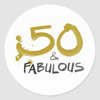 50 and Fabulous stickers