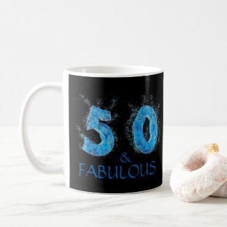 50 and Fabulous Swimmer Swimming 50th Birthday Coffee Mug