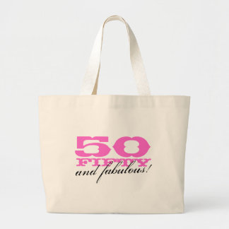 50 and fabulous tote bag for fiftieth Birthday