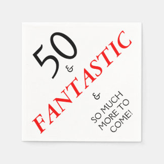 50 and Fantastic Birthday Party Paper Napkins