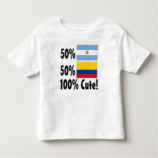 50% Argentinian 50% Colombian 100% Cute Toddler T-shirt
