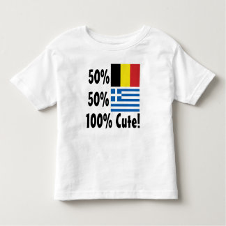 50% Belgian 50% Greek 100% Cute Toddler T-shirt
