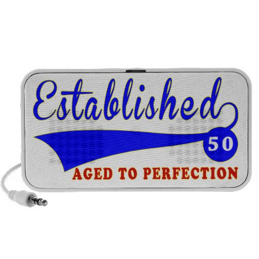 50 Birthday Aged To Perfection Portable Speakers