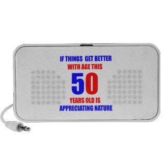 50 Birthday Design PC Speakers