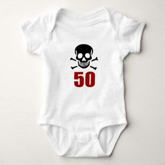 50 Birthday Designs Baby Bodysuit