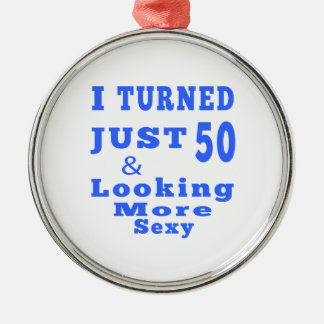 50 birthday designs metal ornament
