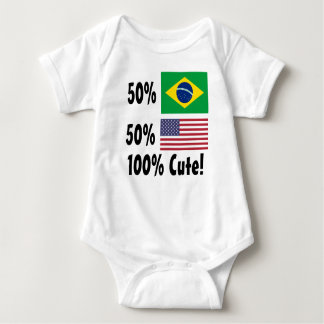 50% Brazilian 50% American 100% Cute Baby Bodysuit