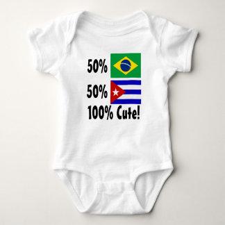 50% Brazilian 50% Cuban 100% Cute Baby Bodysuit