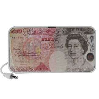 50 British Pound Banknote Doodle Speaker