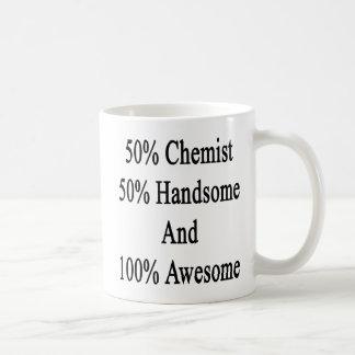 50 Chemist 50 Handsome And 100 Awesome Coffee Mug