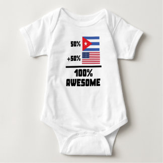 50% Cuban 50% American 100% Awesome Baby Bodysuit